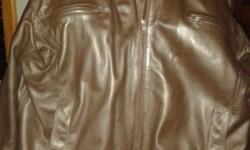 Hand made genuine leather jacket to fit large guy.