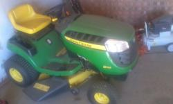 john deere d 110 19.5 hp lawn tractor with 45hrs on