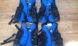 Junior life jackets for sale...four available, size
