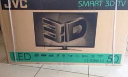 Brand new JVC Smart 3D Tv 50 Inch sealed in box with