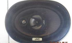 Pair of JVC 3 way 240 watt 6 x 9 speakers for sale.