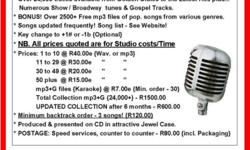 24000 karaoke songs in mp3+G format, all edited for