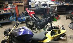 Kawasaki 600 and 1000 Superbike Spares and Rebuilds for