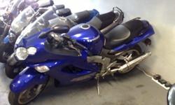 Kawasaki ZZR1200 now stripping for spares at Ryan's