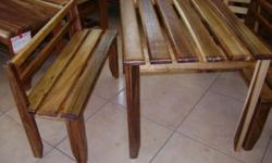 1x Table & 2x Bench's  R2500.00 Table Sizes: Length
