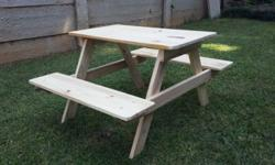 Kiddies Picnic Benches -Seats 4 kids -Sold Unvarnished