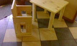Kids patio chairs and table. Hand built with SA