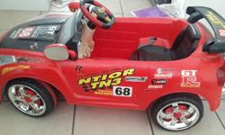 Battery operated ride on car with remote control. Your
