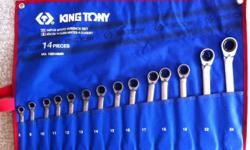KING TONY 14 PC RATCHET SPANNER SET 8 � 24mm [DISPLAYED