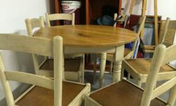 Fully reconditioned round table and 4 x chairs perfect