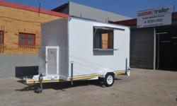 3.5m x 1.8m and 2m high gass cabin and storage counter
