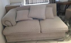 L-shape/ corner fitting beige lounge suite BRAND NEW