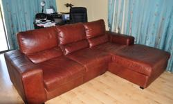 Soort: Living Room One year old L shaped leather sofa