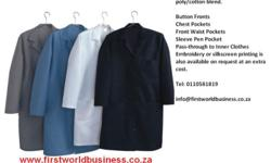 Lab Coats, Dust Coats, Overalls, Conti suits, Boiler