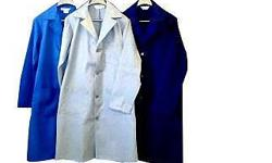 Lab Coats now on special. Dust Coats now on special.