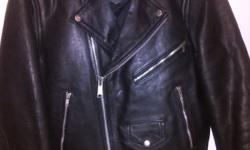 Geniune Leather Ladies Biker Jacket - size Small