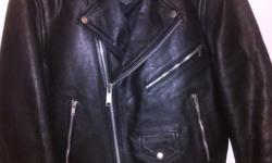Genuine leather ladies biker's jacket for sale. Size: