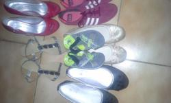 Some shoes and clothes are practicly new. First come