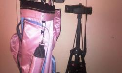 Beskrywing Maxed ladies golf set with cart. Excellent