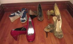 Size 8 previously owned ladies heels. Some have never
