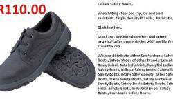 Wide fitting steel toe cap,. Oil and acid resistant,.
