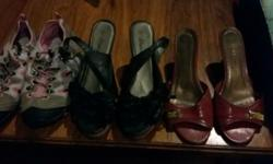 I have 6 pairs of ladies shoes for sale. All size 8.