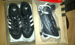 Ladies' Adidas Soccer Boots (size 5) & Puma Shin Guards