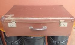 Large brown travelling suitcase. Perfect for