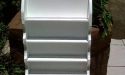Large White painted Wall display/ rack - lovely for