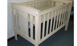 Large Wooden cot - 3 base levels. Includes Mattress and