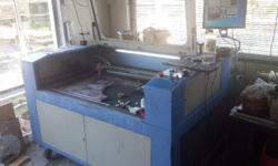 Chinese laser cutting and engraving machine converted