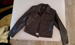 Woolworths leather jacket, small to medium and black