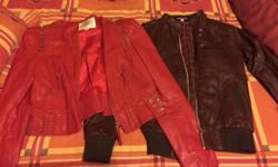 Two leather jackets for sale, excellent condition. Size