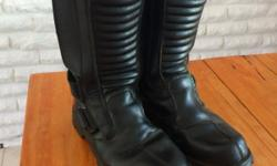 Good condition biker boots - lots of padding and