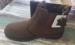 Genuine Leather Safety Boots for Sale, Size 10, Steel