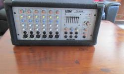 LEEM PORTABLE POWERED MIXER MODEL PM-615R EXCELLENT