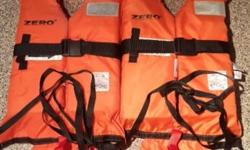 Two brand new life jackets for sale,only used once on