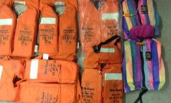 Life jackets for sale...five for 32kgs and up ( some
