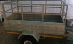 Light brown utility trailer in stock for R7000 in