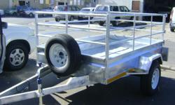 2.4 x1.5M SINGLE AXLE TRAILER (Picture one and two)