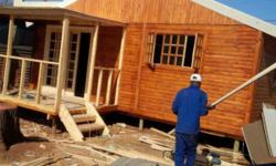 We manufacture good quality log homes and wendy houses