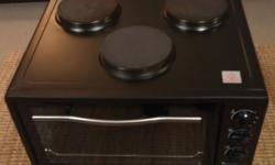 Logik counter top 3 plate stove and oven, almost brand