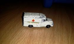 Lomas Ambulance toy car model. Made by Lesney, London.