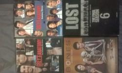 Lot of 4 original Series dvds.1)LOST season 6 2)BONES