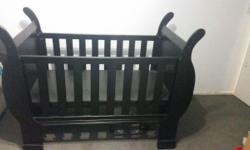 Brand new, never been used before sleigh cot. Retails @