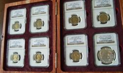 Mandela Coin Set in Wooden display box , only two sets