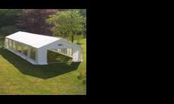 Beskrywing MARQUEES TENT FOR SALE 10M x 20M, WHITE WITH