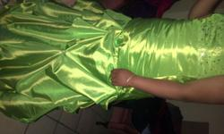 lime green matric/brides maid dress. can be altered