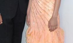 Peach orange martin dress. Designer dress worn once