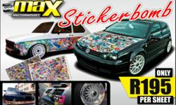 MAX MOTORSPORT - STICKERBOMB! STICKERBOMB only R195 per
